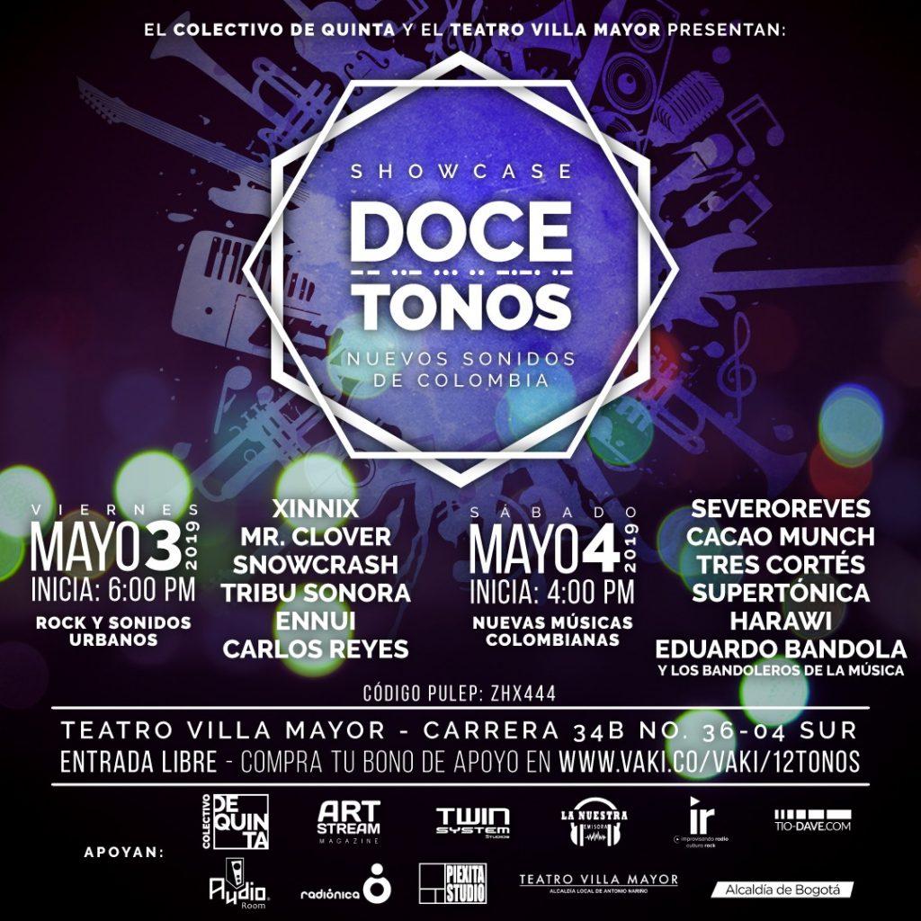 Cartel Oficial DOCE TONOS